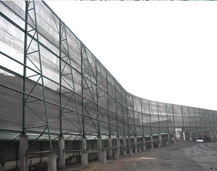 阳泉煤场防风抑尘网安装案例